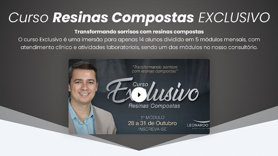 Curso Resinas Compostas Exclusivo
